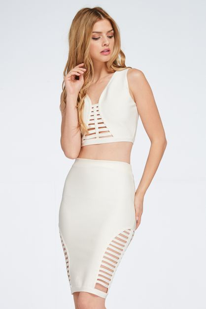 CUT OUT BANDAGE CROP TOP - orangeshine.com