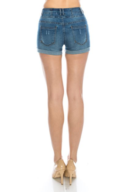 HIGH RISE CUFF SHORTS - orangeshine.com
