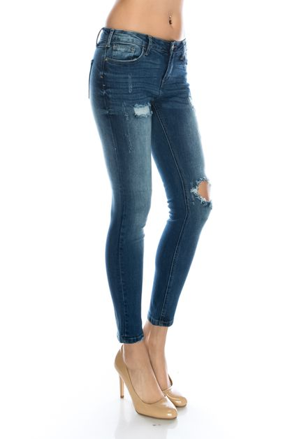 MID RISE PATCHED KYLIE JEANS - orangeshine.com