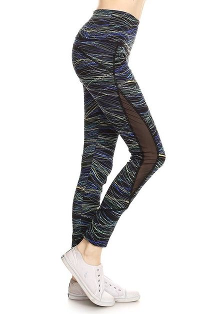 Printed athletic legging - orangeshine.com