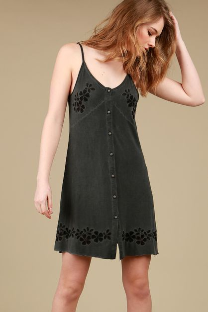 SMD19 - Button down cami dress - orangeshine.com