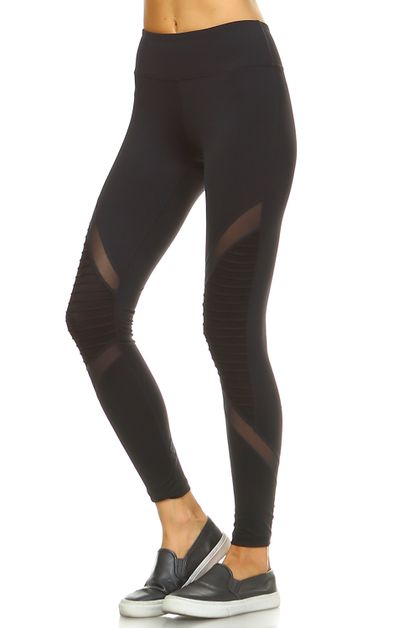 MESH KNIT LEGGINGS - orangeshine.com