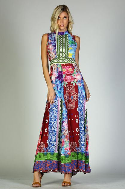 Hankerchief Maxi Dress - orangeshine.com