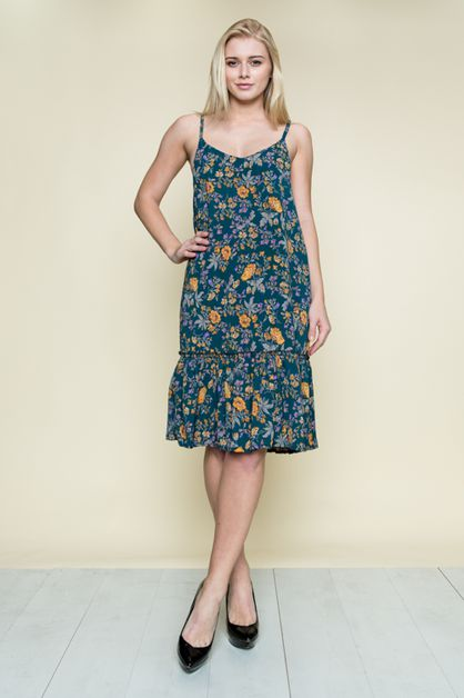 FLORAL CAMI DRESS - orangeshine.com