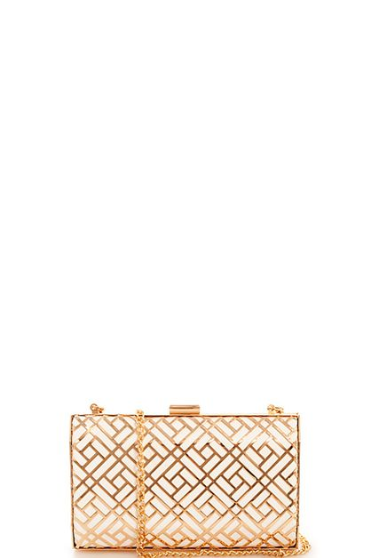 Princess Hard Shell Pattern Clutch - orangeshine.com