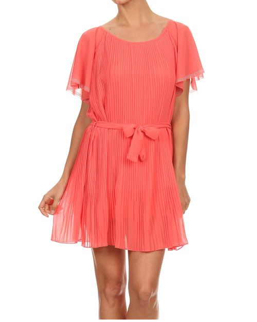 Solid short dresses  - orangeshine.com