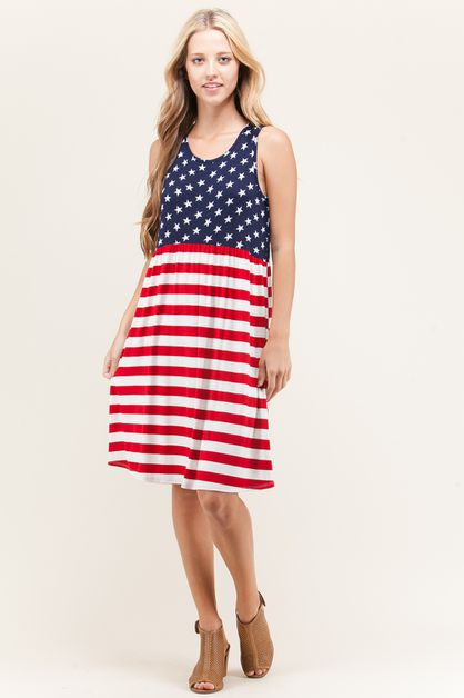 American Flag Dress - orangeshine.com