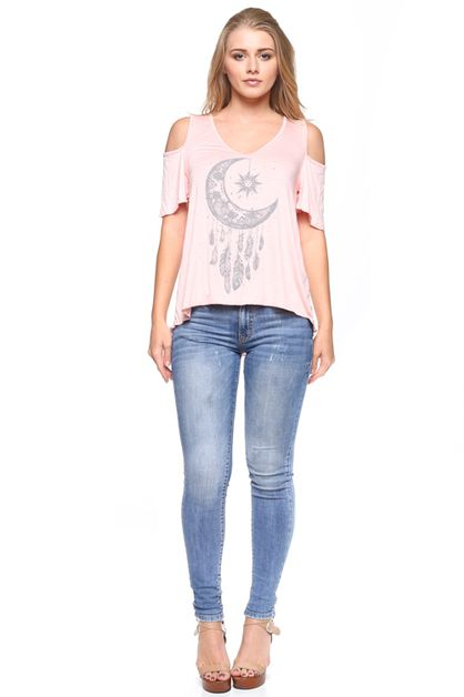 DREAM CATCHER COLD SHOULDER TOP - orangeshine.com