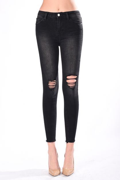 HIGH RISE CALF SKINNY - orangeshine.com