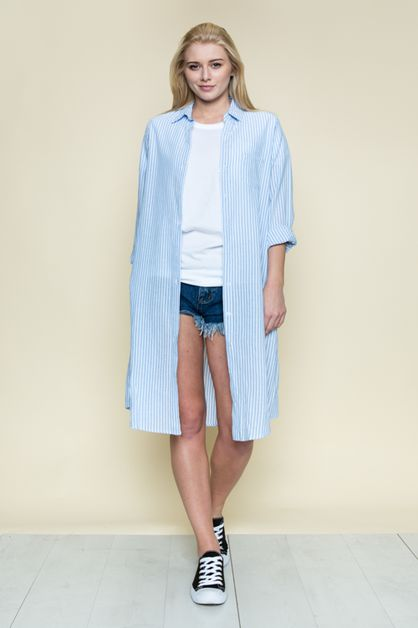 BUTTON DOWN SHIRTDRESS - orangeshine.com