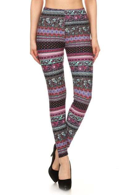 IMPORTED FULL LENGTH PRINT LEGGINGS - orangeshine.com
