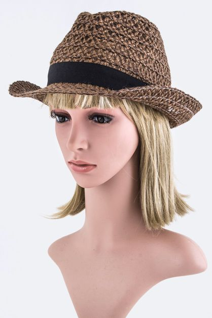 Loose Weaved Fashion Fedora Hat - orangeshine.com