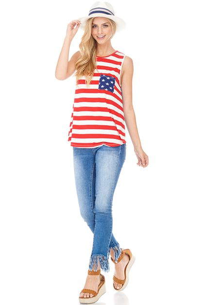 AMERICAN FLAG TUNIC TOP - orangeshine.com