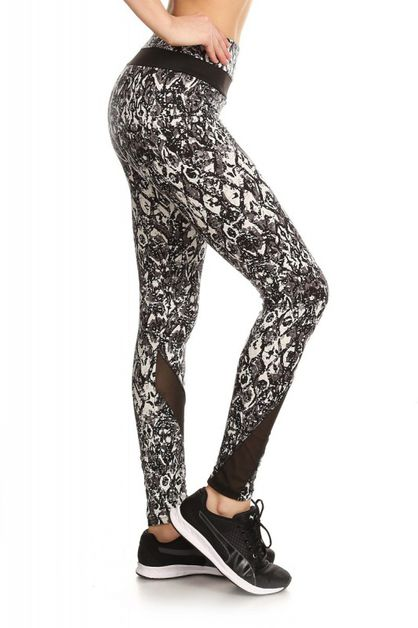 Printing activewear pants wmesh - orangeshine.com