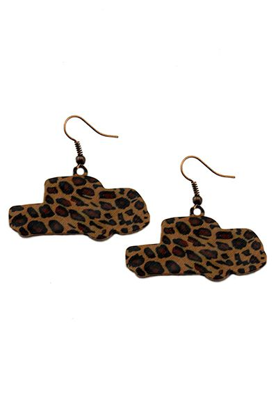 Leopard Trucks Earrings - orangeshine.com