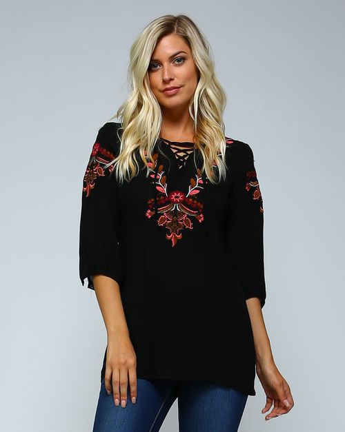 Embroidered Top - orangeshine.com