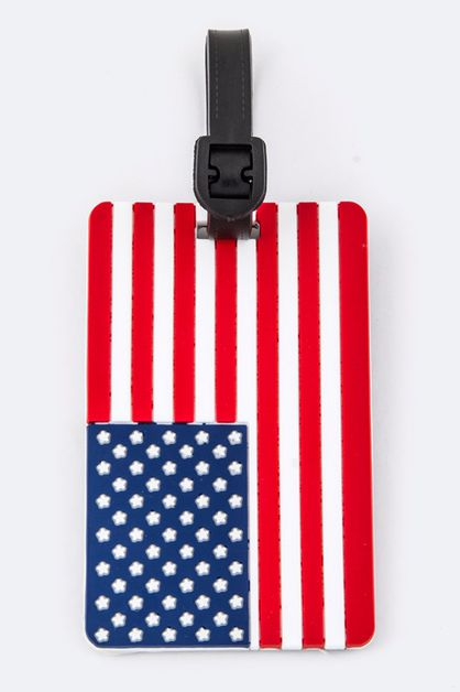 US FLAG  Luggage Tag - orangeshine.com