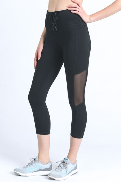 high waist lace-up leggings - orangeshine.com