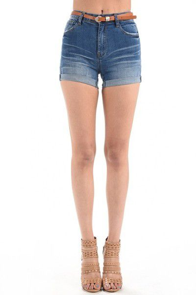 HIGH RISE CUFFED SHORTS - orangeshine.com