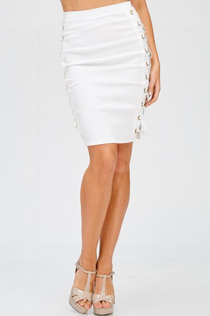 SIDE LACE UP SKIRT - orangeshine.com