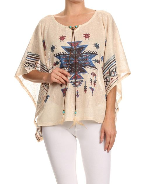 Tribal print top - orangeshine.com