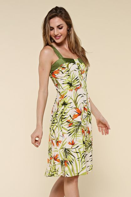 Birds of Paradise Floral Print Dress - orangeshine.com