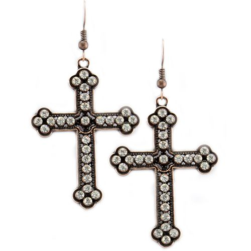 Crystal Embellished Cross  F - orangeshine.com