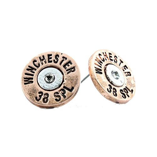Shotgun Shell Stud Earrings - orangeshine.com
