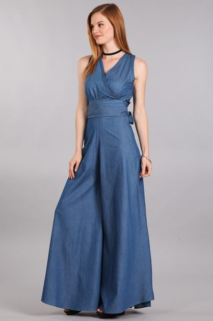 DENIM JUMPSUIT - orangeshine.com