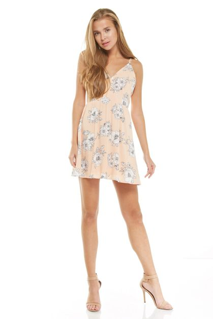 Floral mini dress - orangeshine.com