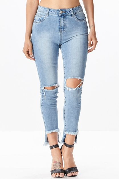 Skinny Cut Off Jeans - orangeshine.com