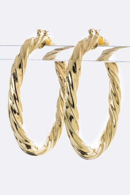 Twisting Hoop Earrings - orangeshine.com