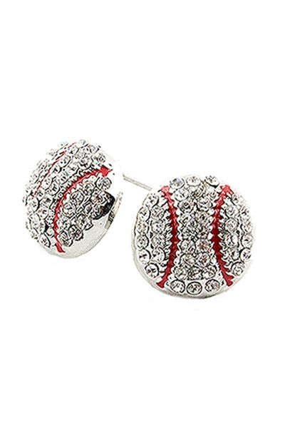 Baseball Stud Earrings  - orangeshine.com