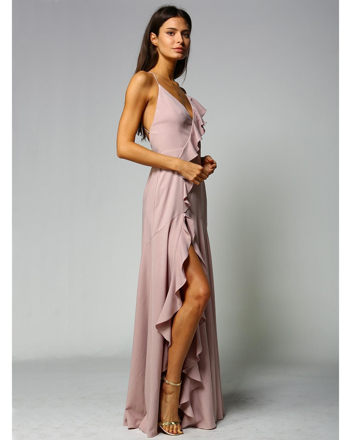 Long Ruffle Dress