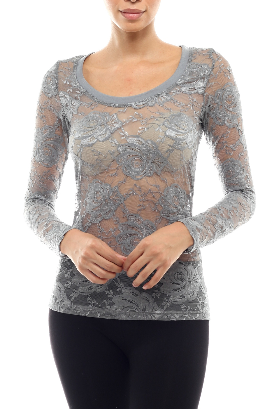 Hipster Rose Lace Top - orangeshine.com