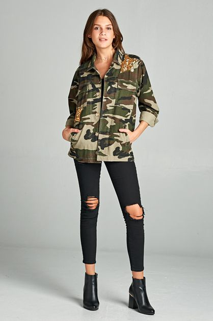 GLAM FIGHTER CAMO JACKET  - orangeshine.com