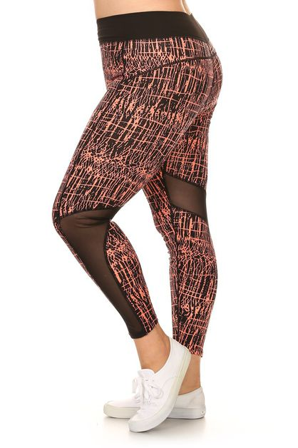 Plus size activewear legging - orangeshine.com