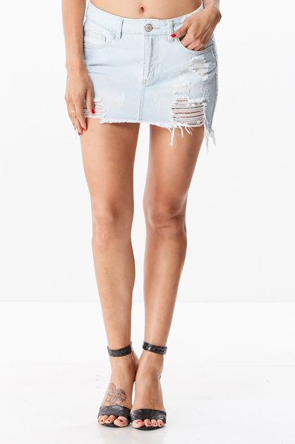 Distressed Mini Skirt - orangeshine.com