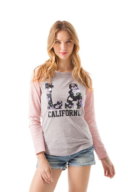 LA CALIFORNIA LONG-SLEEVE BASEBALL T - orangeshine.com