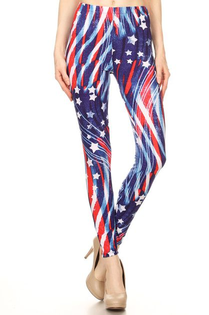 STARS AND STRIPE FULL LENGTH LEGGING - orangeshine.com