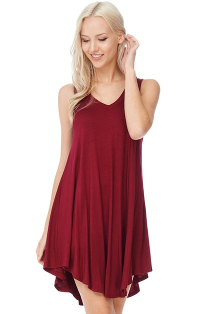 SUMMER BASIC TANK DRESS - orangeshine.com