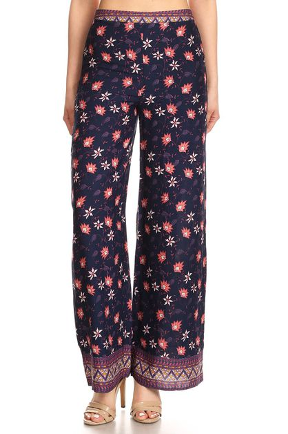Floral printed lounge pants - orangeshine.com