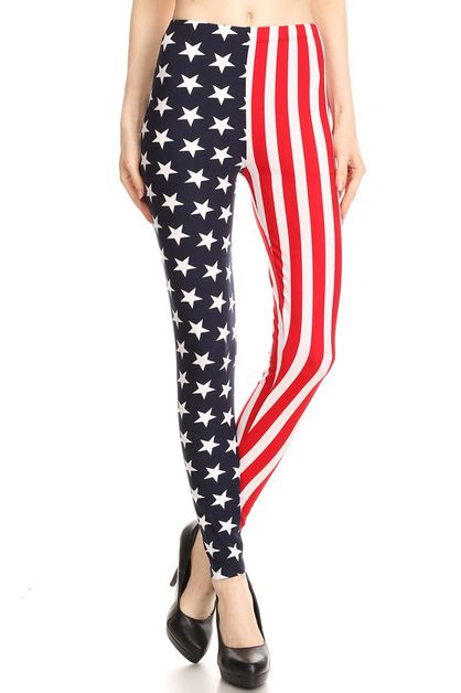 AMERICAN FLAG PRINTED LEGGINGS - orangeshine.com