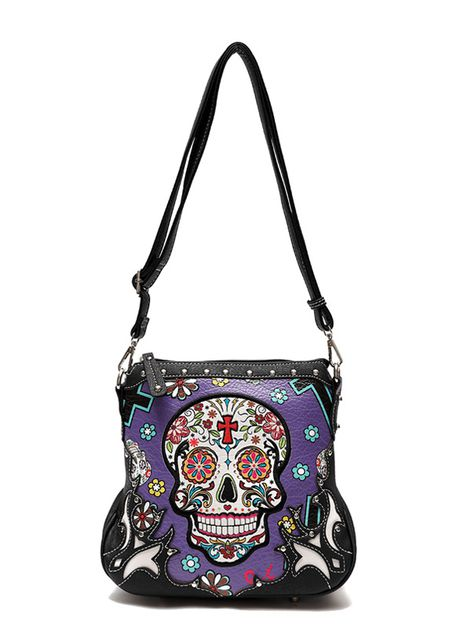 SUGAR SKULL CROSSBODY BAG - orangeshine.com