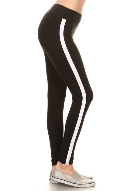 IMPORTED LEGGINGS WITH RACING STRIPE - orangeshine.com