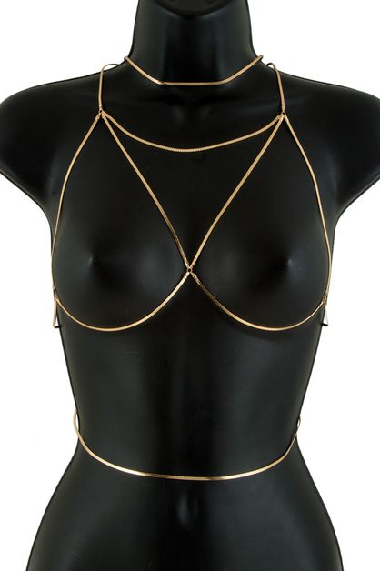 Metal bra body chain - orangeshine.com