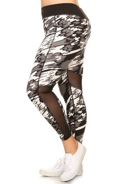 Plus size fashion activewear pants - orangeshine.com