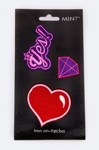 Heart  Diamond Iron-On Patches Set - orangeshine.com