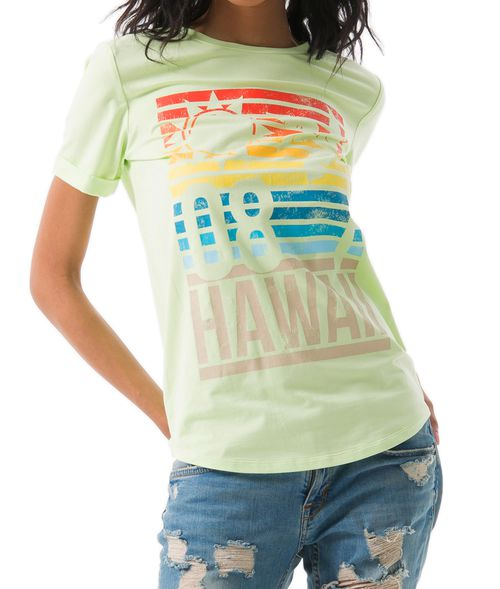 SUNSET HAWAII GRAPHIC T-SHIRT  - orangeshine.com