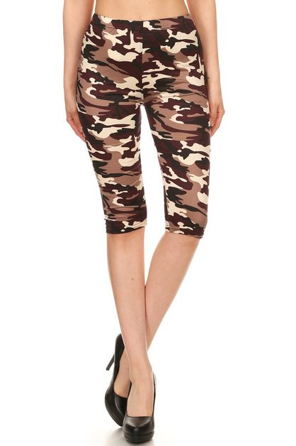 IMPORTED PRINT KNEE LENGTH LEGGINGS - orangeshine.com